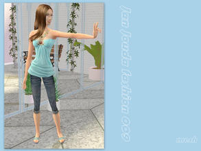 Sims 2 — Jeweled tunic & denim - mesh  by L-75_sims — Beautiful summer tunic for your sims. Mesh