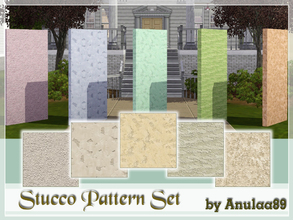 Sims 3 — Stucco Pattern Set by anulaa892 — Set of 5 patterns that are ideal for use as a house elevation.