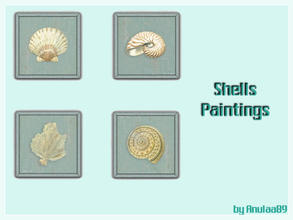 Sims 3 — Shells Paintings by anulaa892 — Shells painting - ideal for your Sims bathroom :)