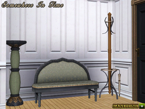Sims 3 — Somewhere In Time by Canelline — The room in a house that must be welcoming, is the hallway. So here are some