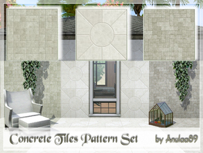 Sims 3 — Concrete Tiles Pattern Set by anulaa892 — Set of 3 recolorable patterns - Ideal for both exterior and interior