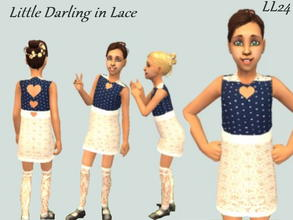 Sims 2 — Little Darling Set - In Lace by luckylibran242 — For the daughter who is extra loving this dress comes with