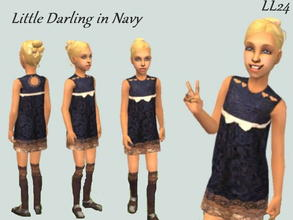 Sims 2 — Little Darling Set - In Navy by luckylibran242 — For the daughter that is always splashing in puddles but still