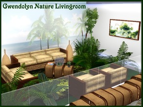 Sims 3 — Gwendolyn Nature Livingroom by Gvendolin2 — This set of furniture for the living room in ecological style.Base