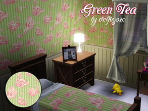 Sims 3 — Green Tea - Once Upon a Time Pattern by delfinjoza2 — Green Tea Pattern - Appears in Once Upon a Time - ABC TV