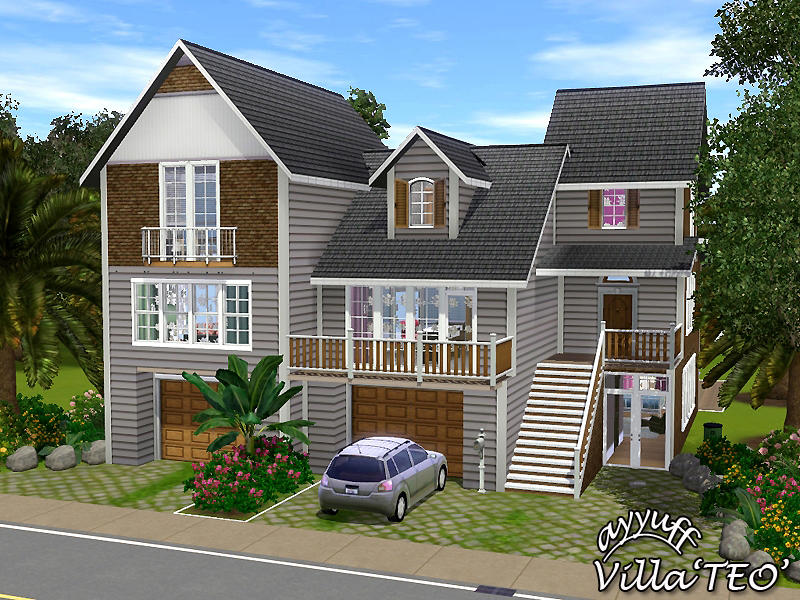 Ayyuff 39 s villa teo furnished for Sims house plans free