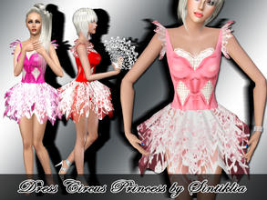 Sims 3 — Sintiklia - Dress Circus Princess by SintikliaSims — Texture: 2048*2048, handpainted own design 4 variants of