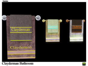 Sims 3 — towel deco wall clayderman by jomsims — towel deco wall clayderman
