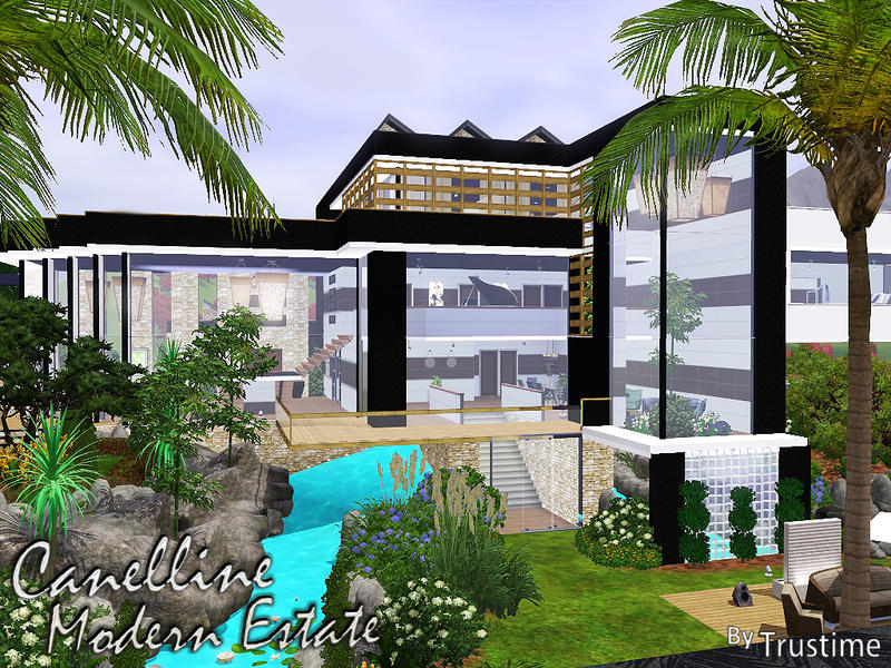 Trustime 39 s canelline modern estate for Beach house 3 free download