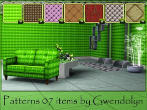 Sims 3 — Gwendolyn Patterns 07 items by Gvendolin2 — I used texture of skin, textile, and sparkle balls to create these