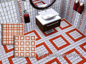 Sims 3 — MB-TileElegancaFloor2 by matomibotaki — MB-TileElegancaFloor2, 2 elegant tile floors with 3 recolorable palettes