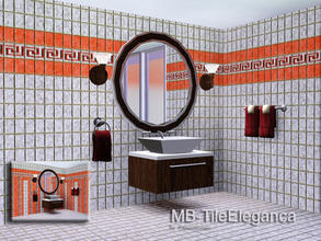 Sims 3 — MB-TileEleganca by matomibotaki — MB-TileEleganca, new elegant tile walls with 4 recolorable palettes and 2