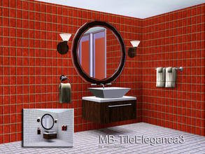 Sims 3 — MB-TileEleganca3 by matomibotaki — MB-TileEleganca3, elegant tile wall without decorations, matching the