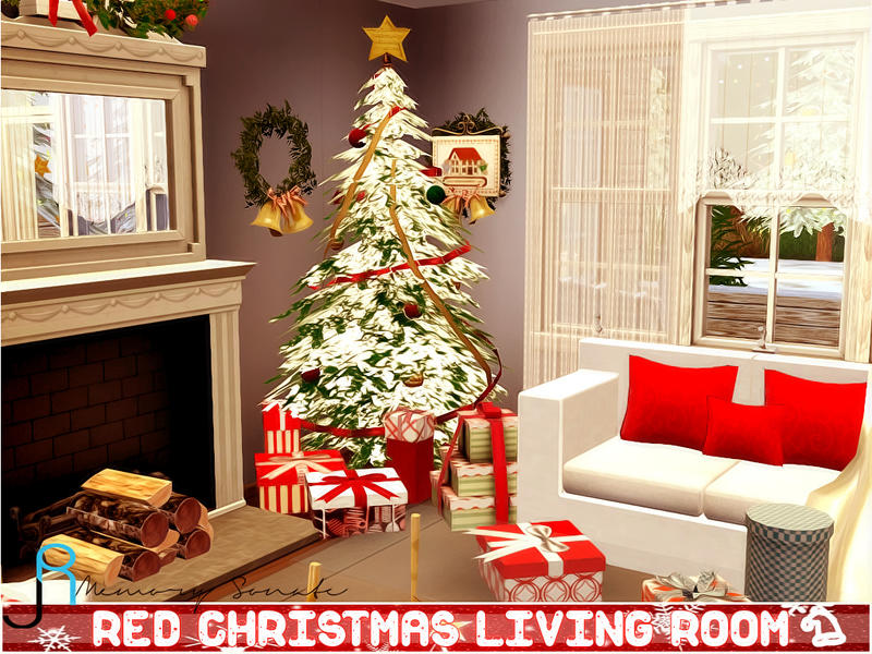 Memory Sonates Red Christmas Living Room