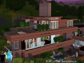 Sims 3 — FLW: PEW Residence by qubedesign — Qubedesign's take on Frank Lloyd Wright's Pew House. Designed and built in