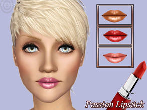 Sims 3 — Passion Lipstick by pizazz — Bring out your color of passion with this long lasting lipstick for your sims. Can