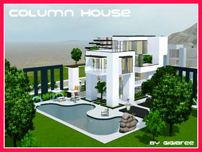 Sims 3 — Column House by Gigibree2 — Column House is inspired by a real house, but represents also my imagination thanks
