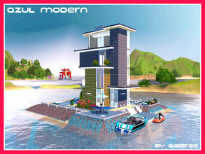 Sims 3 — Azul Modern by Gigibree2 — Created for: The Sims 3 Azul Modern is a little futuristic house built on a private