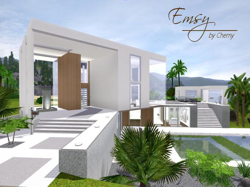 Chemy 39 s emsy modern - The sims 3 case moderne ...