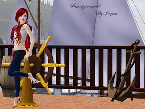 Sims 3 — Part of your world top by ingmu2 — Beautiful collection inspired by The Little Mermaid.