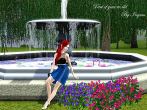 Sims 3 — Part of your world dress v1 by ingmu2 — Beautiful collection inspired by The Little Mermaid.