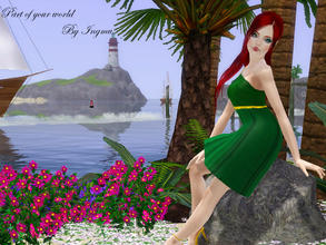 Sims 3 — Part of your world dress v2 by ingmu2 — Beautiful collection inspired by The Little Mermaid.