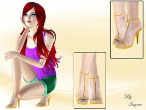 Sims 3 — Part of your world sandals by ingmu2 — Beautiful collection inspired by The Little Mermaid.