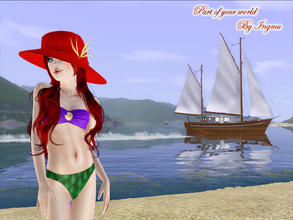 Sims 3 — Part of your world swimsuit by ingmu2 — Beautiful collection inspired by The Little Mermaid.