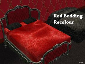 Sims 2 — Odyssey Bed Collection - Red Bed Recolour by staceylynmay2 — Red bedding colour :) Maxis beddings compatible