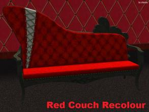 Sims 2 — Red Sofa Recolour by staceylynmay2 — This is a recolour of the sofa. Was ment to be pink but it came out more
