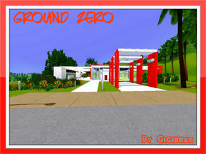 Sims 3 — Ground Zero by Gigibree2 — Ground Zero is a one level house. It has a style very modern and minimal. At the