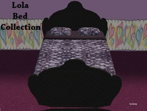 Sims 2 — Lola Bed Collection by staceylynmay2 — This set includes the bedding and the new bed mesh.