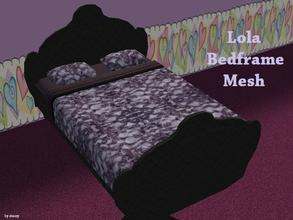 Sims 2 — Lola Bedframe MESH by staceylynmay2 — This is a new mesh bed frame mesh, the mesh is a black diamond frame which