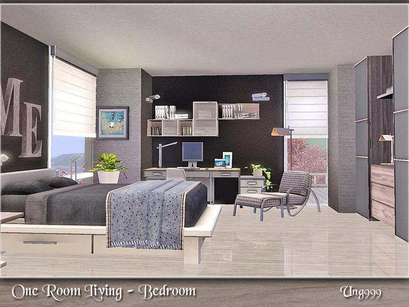 Ung999 39 s one room living bedroom for Living room ideas sims 3