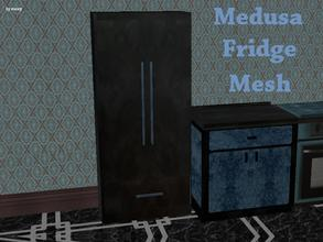 Sims 2 — Medusa Kitchen - Fridge Mesh by staceylynmay2 — This is the mesh, The fridge is a black marble.