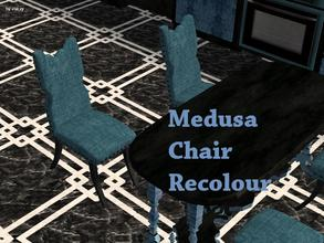Sims 2 — Medusa Kitchen - Chair Recolour by staceylynmay2 — Soft blue chair with black legs.