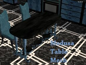 Sims 2 — Medusa Kitchen - Dining Table Mesh by staceylynmay2 — This is the mesh. Black and blue marble. :)