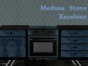 Sims 2 — Medusa Kitchen - Stove Recolour by staceylynmay2 — Blue and black stove recolour, Thanks to ATS2 for stove mesh