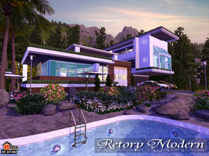 Sims 3 — Retory Modern by autaki — Retory Modern Modern House for your simmies. Nature atmosphere. Decor retro,modern