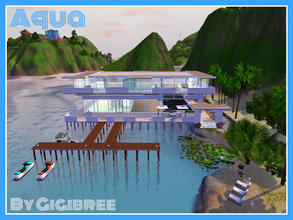 Sims 3 — Aqua by Gigibree2 — Built in Isla Paradiso this 2 levels house is all open concept and multi-level. There is one