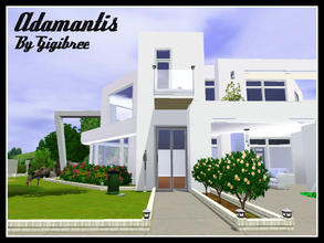 Sims 3 — Adamantis by Gigibree2 — Adamantis is a wide modern house built in Sunset Valley. In the inside you'll find: 2
