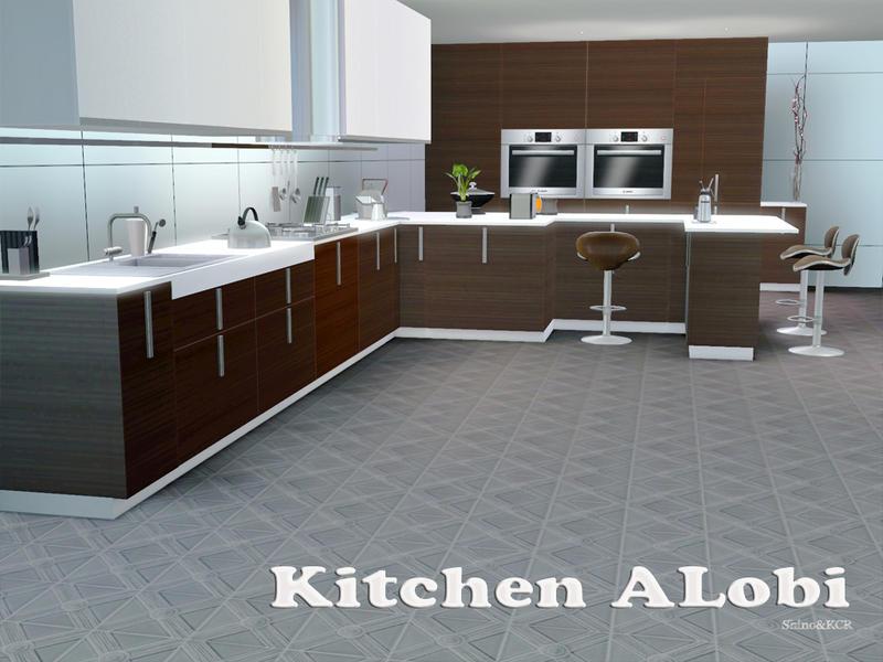 Shinokcr 39 s kitchen alobi for Modern kitchen sims 3