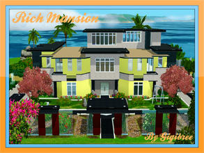 Sims 3 — Rich Mansion by Gigibree2 — Extended over 3 levels, Rich Mansion offers a lot of entertainment to your Sim. In