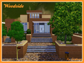 Sims 3 — Woodside by Gigibree2 — Woodside is a wood modern house. With its cheerful appearance it is made by 2 levels. In