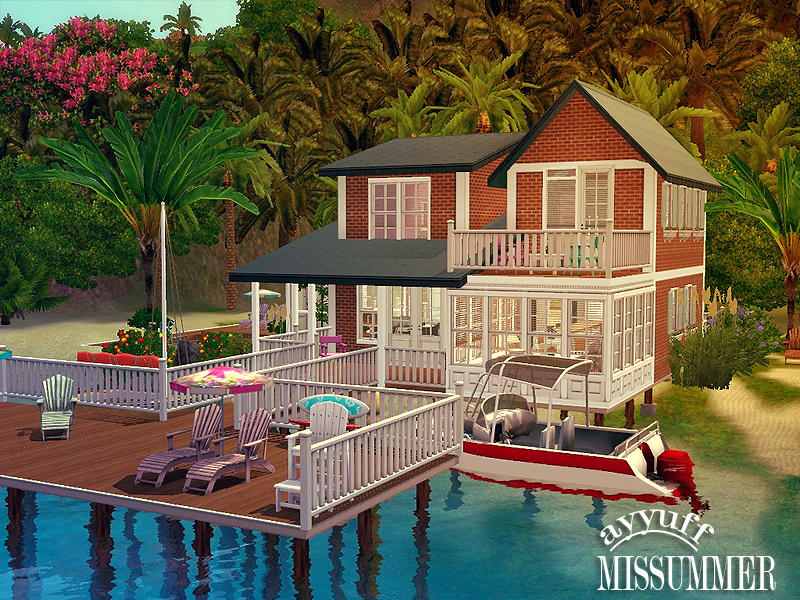 Ayyuff 39 s missummer furnished for Beach house designs for sims 3
