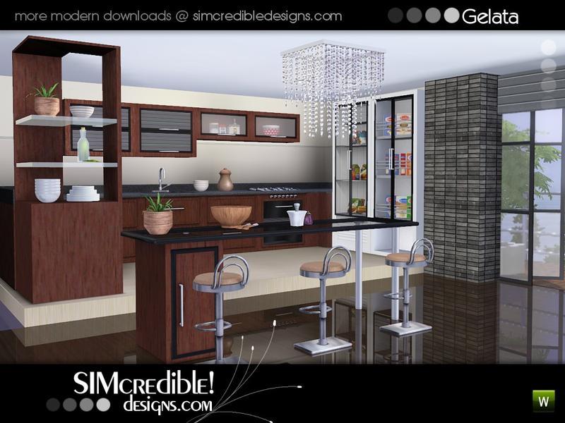 Simcredible 39 s gelata for Modern kitchen sims 3