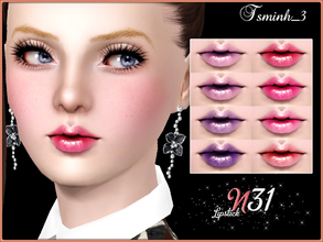 Sims 3 — Lipstick N31 by TsminhSims — New elegant lipstick for your sims. - Three recolor chanels - Full CAS Thumbnails -