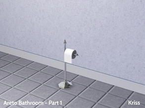 Sims 3 — Areto Bathroom Toiletpaper by Kriss — Toilet paper will look even better on this glamorous and elegant holder.