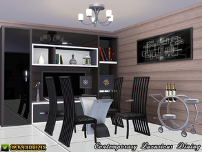 Sims 3 — Contemporary Luxurious Dining Room by Canelline — If your sims like modernity and elegance they will enjoy to