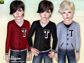 Sims 3 — Cardigan by lillka — Cardigan for boys Everyday/Formal 3 styles/3 recolorable palettes I hope you like it :)